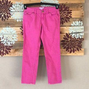 Women's pink vineyard vines straight ankle pants 4